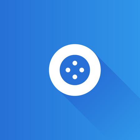 Button icon in Metro user interface color style. Fashion tailor dressmaker Illustration