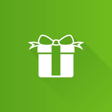 Gift box icon in Metro user interface color style. Present birthday Christmas holiday
