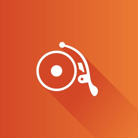 ring road: Bicycle bell icon in Metro user interface color style. Transportation cycling ride ring Illustration