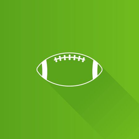 Football icon in Metro user interface color style. American sport ball goal