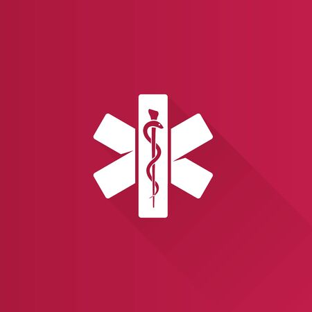 urgencias medicas: Medical cross icon in Metro user interface color style. Emergency service. Vectores
