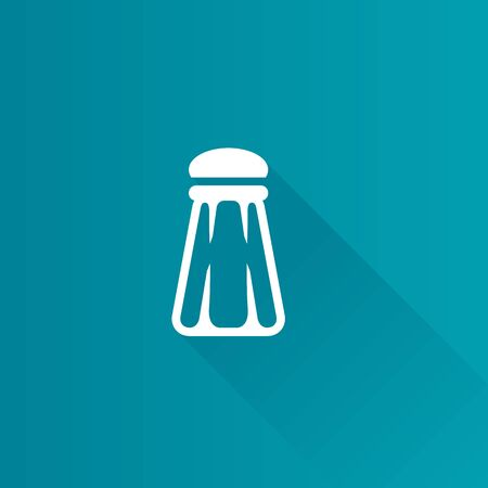 Pepper pot icon in Metro user interface color style. Restaurant table dinner