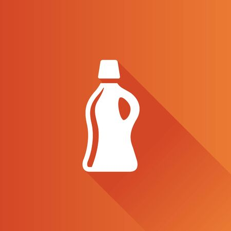 Detergent bottle icon in Metro user interface color style. Laundry perfume softener Illustration