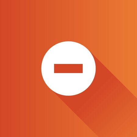 mobile: Stop sign icon in Metro user interface color style. Road warning restriction