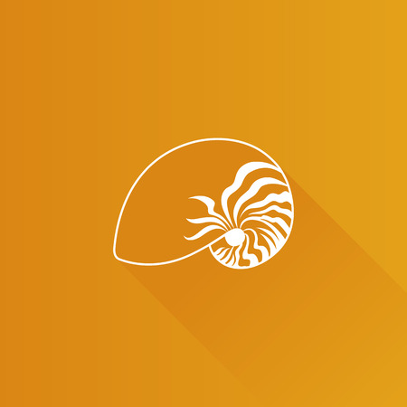Nautilus icon in Metro user interface color style. Illustration