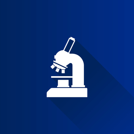 tiny lenses: Microscope icon in Metro user interface color style. Science equipment laboratory