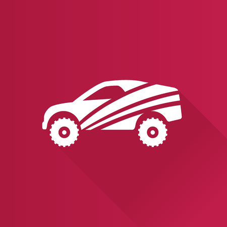 Rally car icon in Metro user interface color style. Race championship competition Illustration