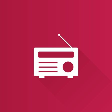 wave: Radio icon in Metro user interface color style. Communication broadcast media Illustration