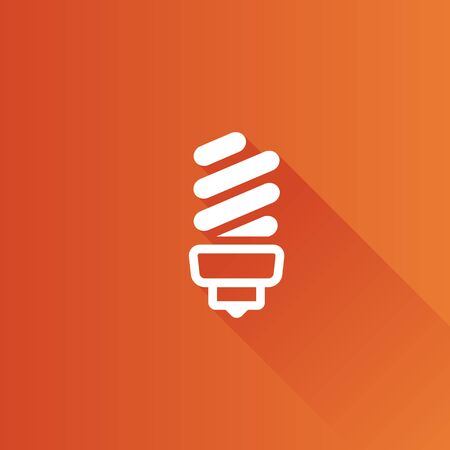 website: Light bulb icon in Metro user interface color style. Idea inspiration light Illustration