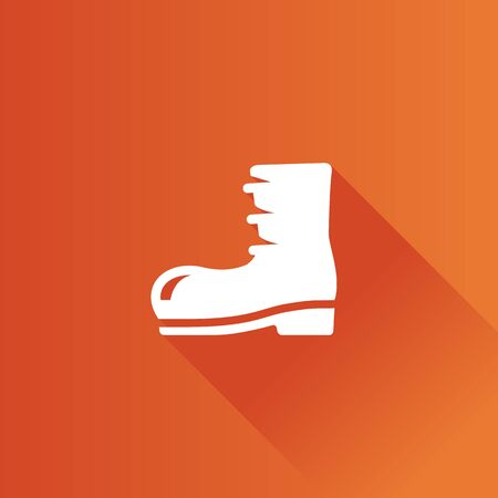 Boot icon in Metro user interface color style. Footwear outdoor outwear