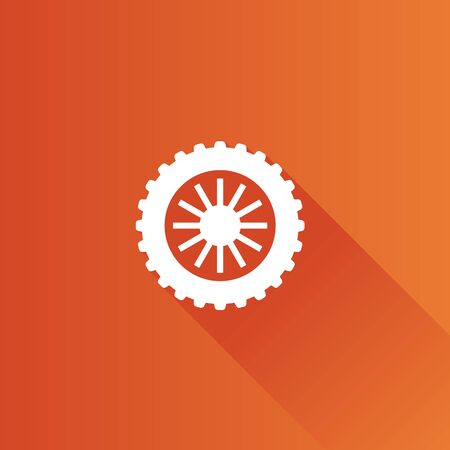 Motorcycle tire icon in Metro user interface color style. Motorcycle motorbike wheel