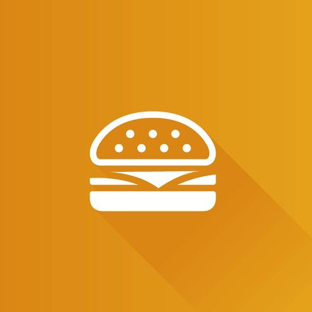 mobile: Burger icon in Metro user interface color style. Fast food junk American