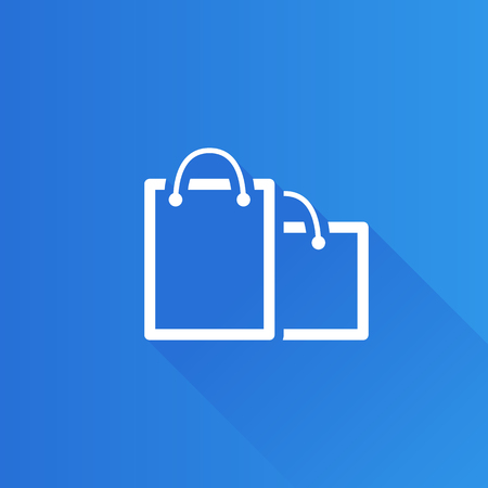 customer: Shopping bags icon in Metro user interface color style. Buying ecommerce