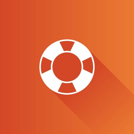 water: Ring buoy icon in Metro user interface color style. Safety equipment sea