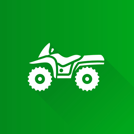 All terrain vehicle icon in Metro user interface color style. Rally offroad outdoor