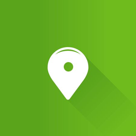 mobile: Pin location map icon in Metro user interface color style. Illustration