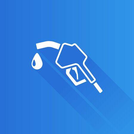 Gas dispenser icon in Metro user interface color style. Oil gasoline fuel