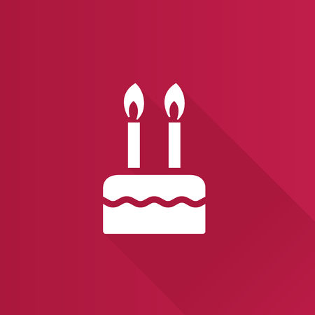 Birthday cake icon in Metro user interface color style. Food sweet celebration