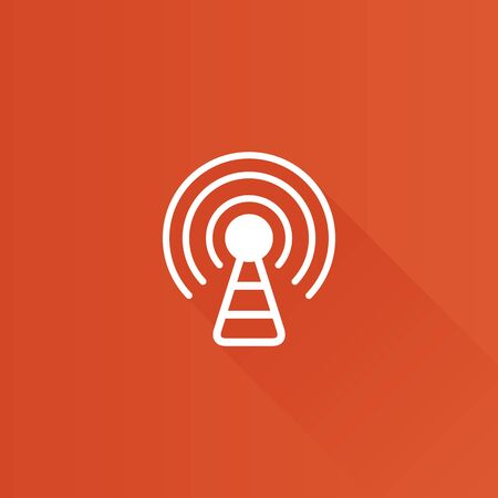 wireless communication: Podcast icon in Metro user interface color style. Broadcast news Illustration