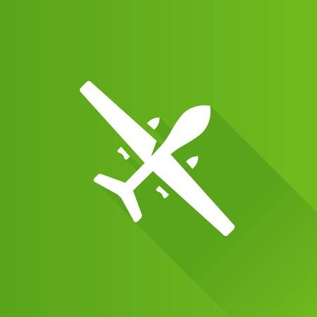 Unmanned aerial vehicle icon in Metro user interface color style. Aviation military drone