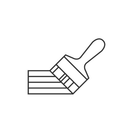 home icon: Paint brush icon in thin outline style. Artist, painting, drawing, artwork