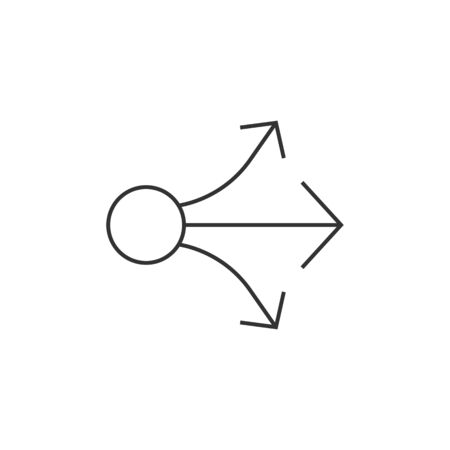 Propagate arrows icon in thin outline style. Business management human resources administration Illustration