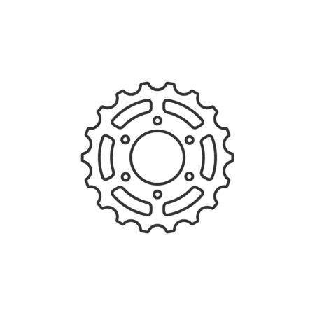 spare: icon in thin outline style. Illustration