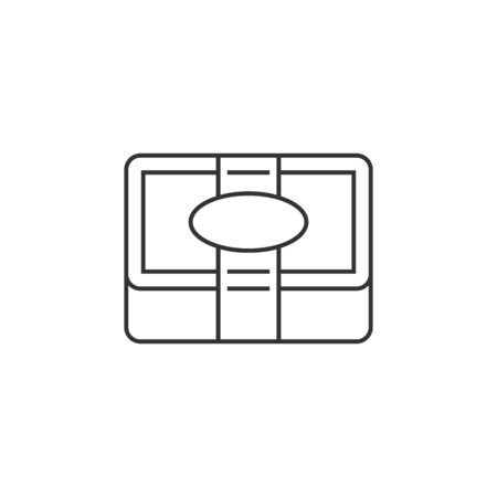 massage symbol: Spa soap icon in thin outline style. Massage therapy, relaxation