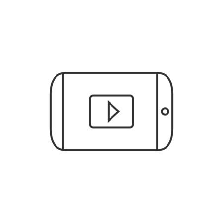 wireless connection: Tablet PC icon in thin outline style. Wireless connection WiFi