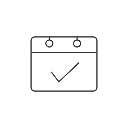 calendar icon: Available label icon in thin outline style. Calendar job work assignment freelance