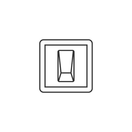 shutdown: Electric switch icon in thin outline style.