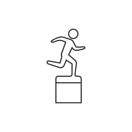 race winner: Athletic trophy icon in thin outline style.
