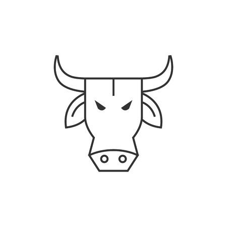 bullish: Bullish icon in thin outline style.