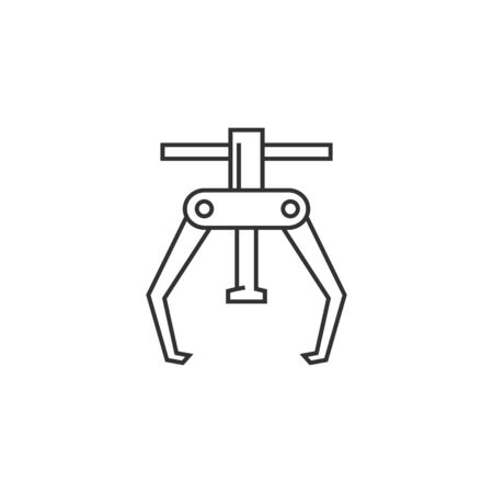 spare: Bicycle tool icon in thin outline style.