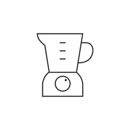 appliances: Juicer icon in thin outline style. Illustration