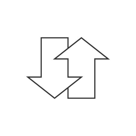 rebuild: Arrows icon in thin outline style.