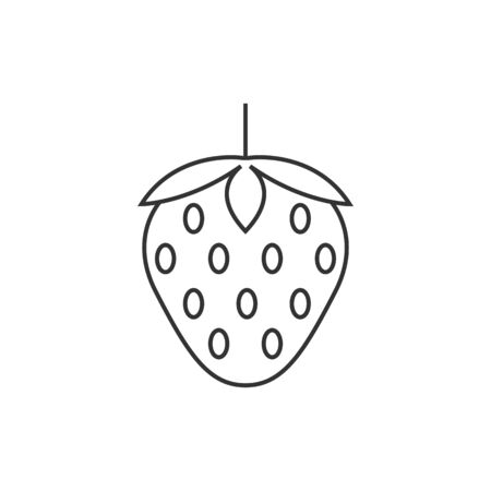 Strawberry icon in thin outline style.