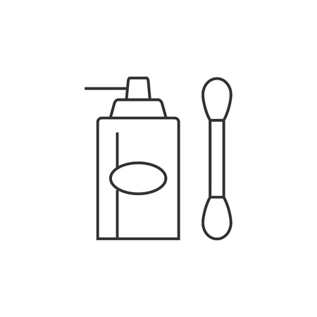 paint container: Liquid spray icon in thin outline style.