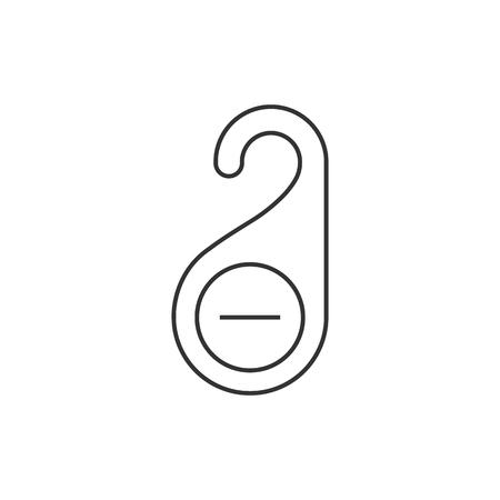 door handle: Door handle label icon in thin outline style.