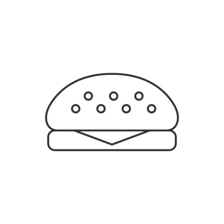 shop sign: Burger icon in thin outline style