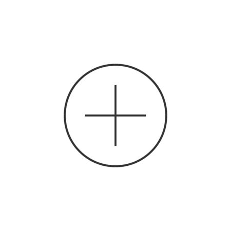 care symbol: Plus sign icon in thin outline style. Symbol add bookmark medical health care ambulance