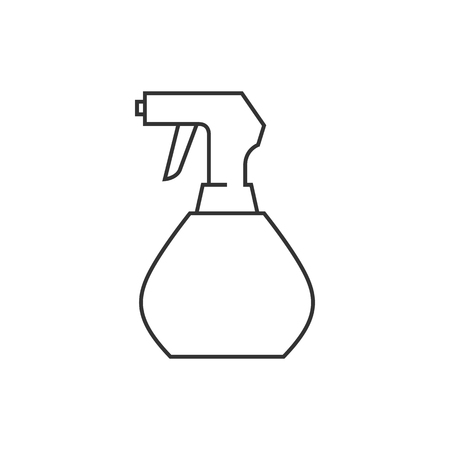 water: Sprayer icon in thin outline style. Laundry cleaning fragrance perfume scent aromatherapy