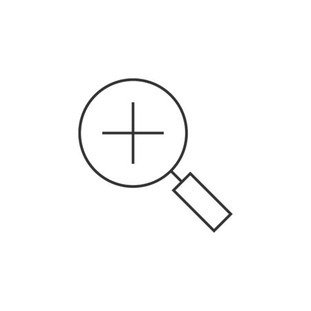 icons site search: Magnifier icon in thin outline style. Zoom explore find locate