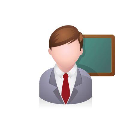 Teacher avatar icon in colors.