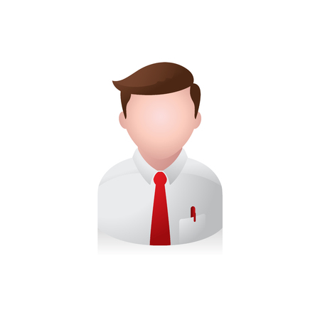 Businessman avatar icon in colors.