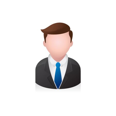 brown: Businessman avatar icon in colors.