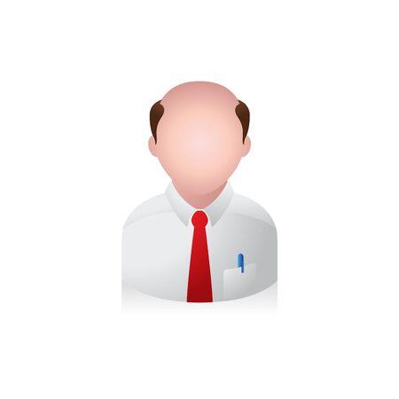 male portrait: Businessman avatar icon in colors.