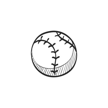 competitions: Baseball icon in doodle sketch lines. Sport champion competition team Illustration