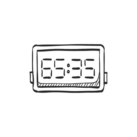 panels: Score board icon in doodle sketch lines. Basketball game playing match tournament Illustration