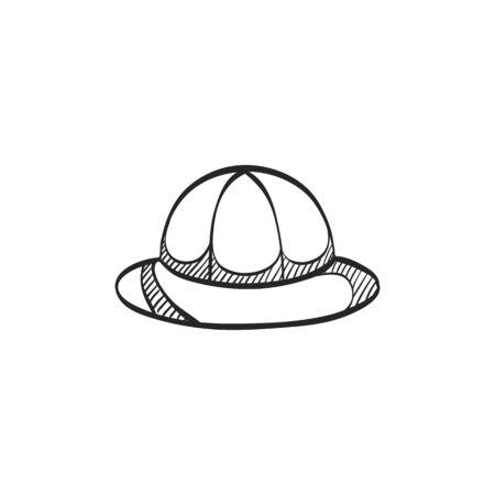 Safari icon icon in doodle sketch lines. Travel Africa savanna wildlife tour vintage